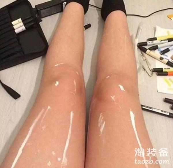 一双引发争议的大腿